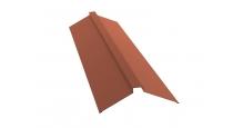 Коньки для кровли из металлочерепицы в Калуге Планка конька плоского 115х30х115