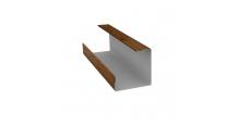 Доборные элементы (Блок-хаус/ЭкоБрус) Grand Line в Калуге Планка угла внутреннего составная нижняя