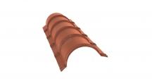 Коньки для кровли из металлочерепицы в Калуге Планка малого конька полукруглого