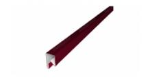 Планки П-образные для забора в цвете RAL 3003 рубиново-красный Grand Line в Калуге П-образная заборная 17